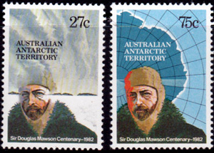 Sir Douglas Mawson Centenary,Australian Antarctic Division,Antartica,Antartic,AAT,FDC,FDC's,First Day Cover,First Day Cover,Stamp Collecting,Australian Antarctic Territory,Mawson,Davis,Heard Island,Macquarie Island,Australian Postal History,First Day Covers,Australian First Day Covers