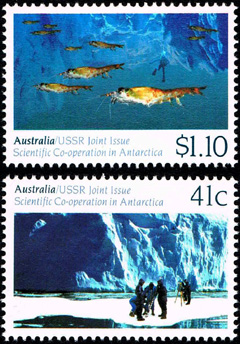 Scientific Co-Operation in Antarctica Joint Issue with USSR,Australian Antarctic Division,Antartica,Antartic,AAT,FDC,FDC's,First Day Cover,First Day Cover,Stamp Collecting,Australian Antarctic Territory,Mawson,Davis,Heard Island,Macquarie Island,Australian Postal History,First Day Covers,Australian First Day Covers