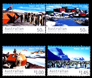 Mawson Station 1954-2004,Australian Antarctic Division,Antartica,Antartic,AAT,FDC,FDC's,First Day Cover,First Day Cover,Antartic base first day covers,AAT Base Covers,Stamp Collecting,Australian Antarctic Territory,Mawson,Davis,Heard Island,Macquarie Island,Australian Postal History,First Day Covers,Australian First Day Covers