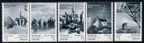HURLEY'S JOURNEY 1914-1916, Australian Antarctic Division,Antartica,Antartic,AAT,FDC,FDC's,First Day Cover,First Day Cover,Antartic base first day covers,AAT Base Covers,Stamp Collecting,Australian Antarctic Territory,Mawson,Davis,Heard Island,Macquarie Island,Australian Postal History,First Day Covers,Australian First Day Covers