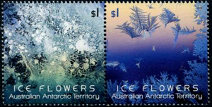AAT ICE FLOWERS, Australian Antarctic Division,Antartica,Antartic,AAT,FDC,FDC's,First Day Cover,First Day Cover,Antartic base first day covers,AAT Base Covers,Stamp Collecting,Australian Antarctic Territory,Mawson,Davis,Heard Island,Macquarie Island,Australian Postal History,First Day Covers,Australian First Day Covers