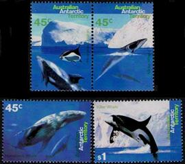 Whales and Dolphins,Australian Antarctic Division,Antartica,Antartic,AAT,FDC,FDC's,First Day Cover,First Day Cover,Stamp Collecting,Australian Antarctic Territory,Mawson,Davis,Heard Island,Macquarie Island,Australian Postal History,First Day Covers,Australian First Day Covers